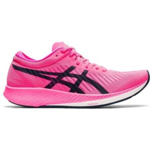 Asics MetaRacer - Womens Road Racing Shoes - Hot Pink/French Blue