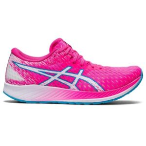 Asics Hyperspeed - Womens Road Racing Shoes - Hot Pink/White