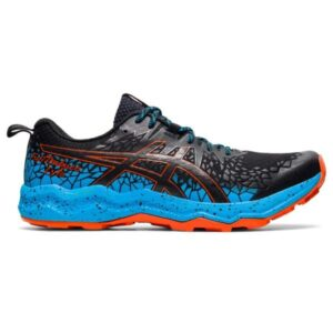 Asics Fuji Trabuco Lyte - Mens Trail Running Shoes - Black/Digital Aqua