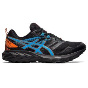 Asics Gel Sonoma 6 - Mens Trail Running Shoes - Black/Digital Aqua