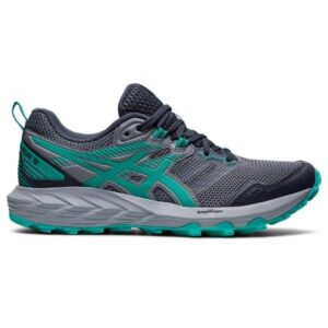 Asics Gel Sonoma 6 - Womens Trail Running Shoes - Carrier Grey/Baltic Jewel