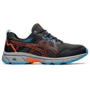 Asics Gel Venture 8 - Mens Trail Running Shoes - Black/Marigold Orange
