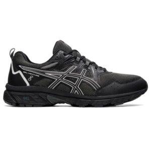 Asics Gel Venture 8 - Mens Trail Running Shoes - Black/White