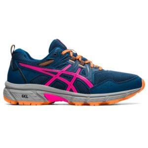 Asics Gel Venture 8 - Womens Trail Running Shoes - Mako Blue/Pink Glo