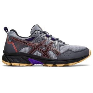 Asics Gel Venture 8 - Womens Trail Running Shoes - Carrier Grey/Red Brick
