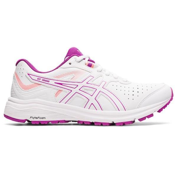 Asics GT-1000 LE - Womens Cross Training Shoes - White/Digital Grape