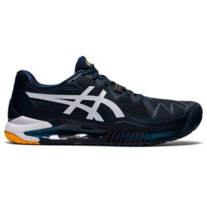 Asics Gel Resolution 8 - Mens Tennis Shoes - French Blue/White