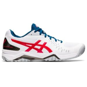Asics Gel Challenger 12 Hardcourt - Mens Tennis Shoes - White/Classic Red