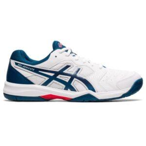 Asics Gel Dedicate 6 Hardcourt - Mens Tennis Shoes - White/Mako Blue