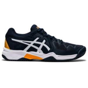 Asics Gel Resolution 8 GS - Kids Tennis Shoes - French Blue/White