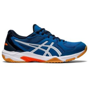 Asics Gel Rocket 10 - Mens Volleyball Indoor Court Shoes - Reborn Blue/White