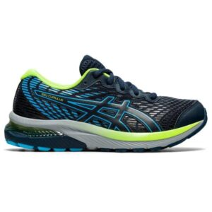 Asics Gel Cumulus 22 GS - Kids Running Shoes - French Blue/Hazard Green