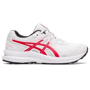 Asics Contend 7 GS - Kids Running Shoes - White/Classic Red
