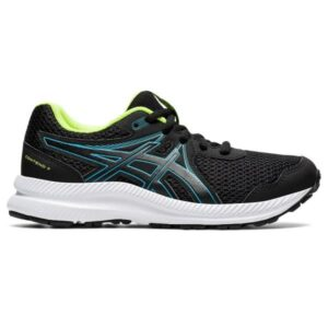Asics Contend 7 GS - Kids Running Shoes - Black/Digital Aqua