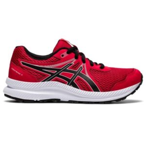 Asics Contend 7 GS - Kids Running Shoes - Classic Red/Black