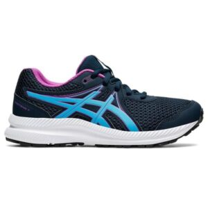 Asics Contend 7 GS - Kids Running Shoes - French Blue/Digital Aqua