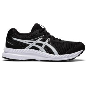 Asics Contend 7 GS - Kids Running Shoes - Black/White