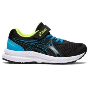 Asics Contend 7 PS - Kids Running Shoes - Black/Digital Aqua