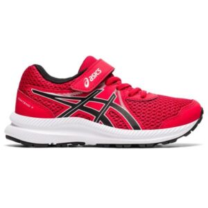 Asics Contend 7 PS - Kids Running Shoes - Classic Red/Black