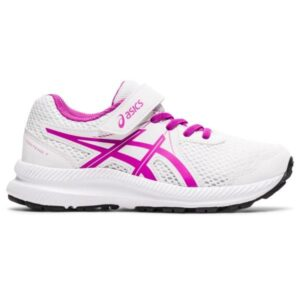 Asics Contend 7 PS - Kids Running Shoes - White/Digital Grape