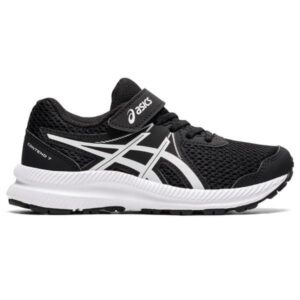 Asics Contend 7 PS - Kids Running Shoes - Black/White