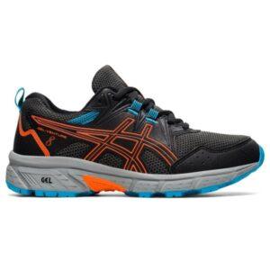 Asics Gel Venture 8 GS - Kids Trail Running Shoes - Black/Marigold Orange