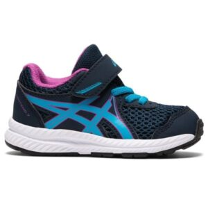 Asics Contend 7 TS - Toddler Running Shoes - French Blue/Digital Aqua