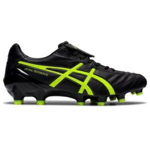 Asics Lethal Testimonial 4 IT - Mens Football Boots - Black/Safety Yellow
