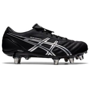 Asics Lethal Warno ST 2 - Mens Rugby Boots - Double Black/Pure Silver