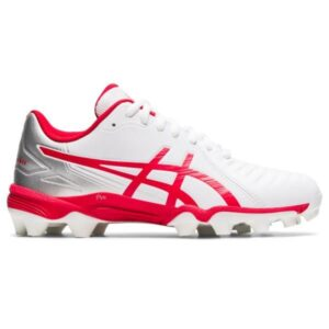 Asics Lethal Ultimate GS - Kids Football Boots - White/Classic Red