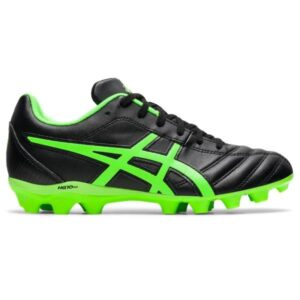 Asics Lethal Flash IT GS - Kids Football Boots - Black/Green Gecko