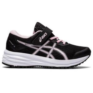 Asics Patriot 12 PS - Kids Running Shoes - Black/Pink Salt
