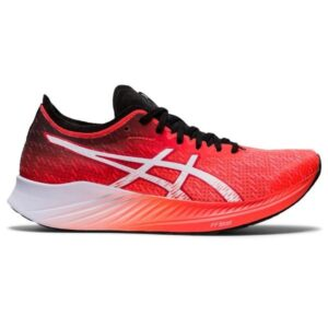Asics Magic Speed - Womens Road Racing Shoes - Sunrise Red/White