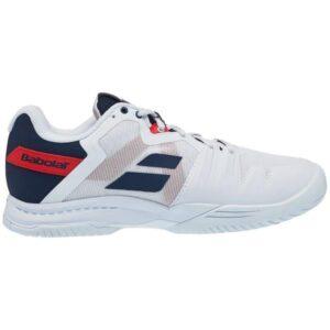Babolat SFX3 All Court Mens Tennis Shoes - White/Estate Blue