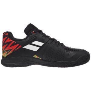 Babolat Propulse Clay Kids Tennis Shoes - Black/White