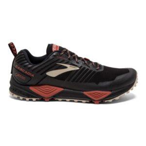 Brooks GTX Cascadia 13 - Mens Trail Running Shoes - Black/Red/Tan