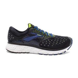Brooks Glycerin 16 - Mens Running Shoes - Black/Lime/Blue