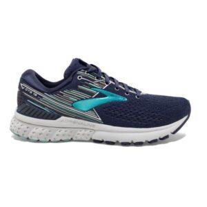 Brooks Adrenaline GTS 19 - Womens Running Shoes - Navy/Aqua/Tan