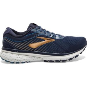 Brooks Ghost 12 - Mens Running Shoes - Navy/Deep Water/Gold