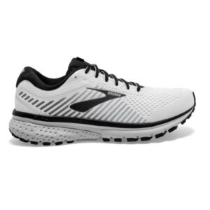 Brooks Ghost 12 - Mens Running Shoes - White/Grey/Black