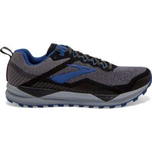 Brooks Cascadia 14 GTX - Mens Trail Running Shoes - Black/Grey/Blue