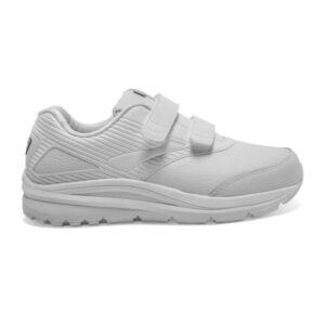 Brooks Addiction Walker 2 Leather Velcro - Womens Walking Shoes - White