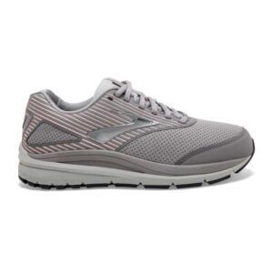 Brooks Addiction Walker 2 Suede - Womens Walking Shoes - Alloy/Oyster/Peach