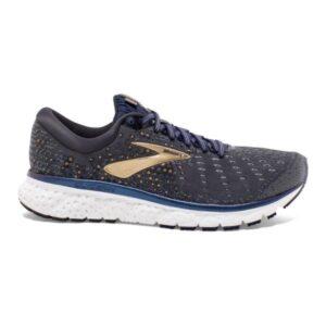 Brooks Glycerin 17 - Mens Running Shoes - Grey/Navy/Gold