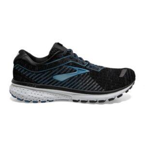 Brooks Ghost 12 Knit - Mens Running Shoes - Black/Grey/Stellar