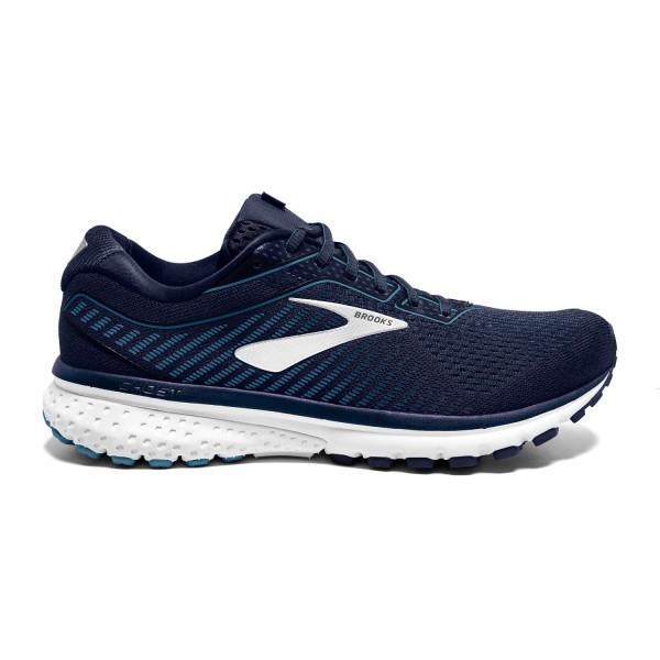 Brooks Ghost 12 - Mens Running Shoes - Navy/Stellar/White