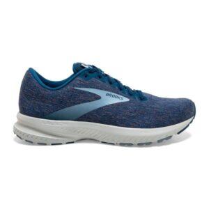 Brooks Launch 7 Knit - Mens Running Shoes - Blue Fog/Poseidon/Grey
