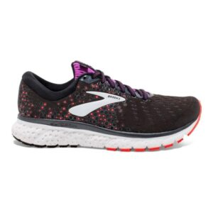 Brooks Glycerin 17 - Womens Running Shoes - Black/Fiery Coral/Purple