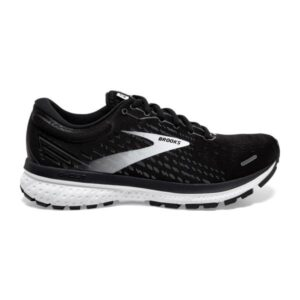 Brooks Ghost 13 - Mens Running Shoes - Black/Blackened Pearl/White