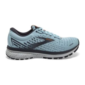Brooks Ghost 13 - Womens Running Shoes - Light Blue/Blackened Pearl/White